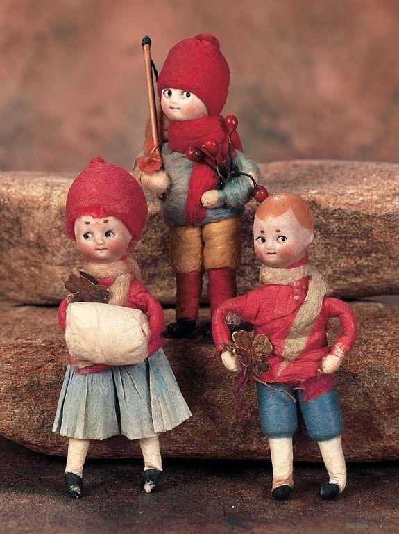 Heubach Spun Cotton Ornaments
