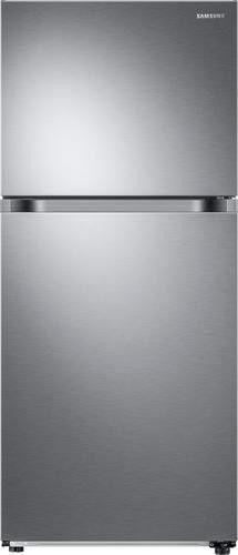 Samsung - 17.6 Cu. Ft. Top-Freezer Refrigerator - Stainless steel - Front_Standard