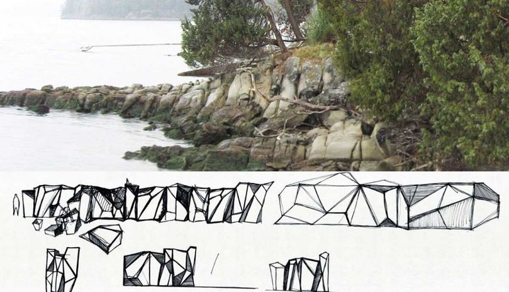 a corten steel sculpture designed to provide a solution to foreshore erosion for a waterfront property in Vancouver, Canada.