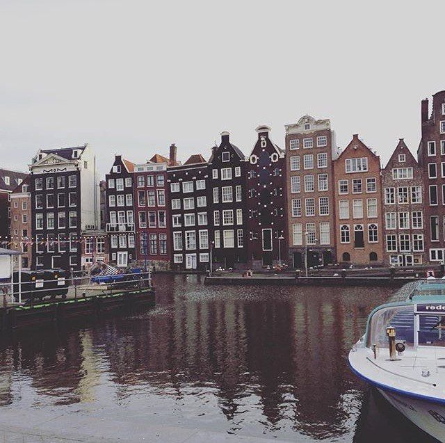 I Really Really Love This View!!! #Netherlands #holland #Groningen #Amsterdam #Europe #European #travel #travelblogger #blogger #beautiful #love #adventure #travellikedance #gopro  #sponsorship #building #cute #beautifulplace #ヨーロッパ #オランダ #旅 #Christmas #river #boat #christmastree #romantic #sns #winter