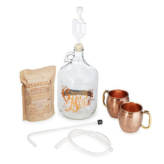 Ginger Beer Making Kit with Copper Mule Mugs | moscow mule recipe #affiliate