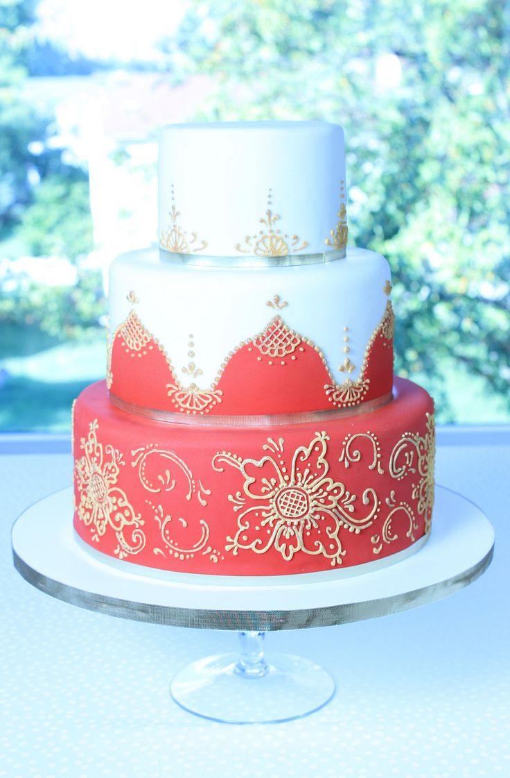 Indian Themed Anniversary Cake