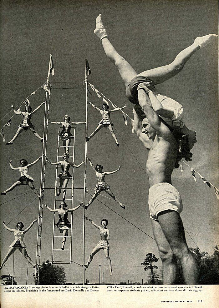 Life Goes to a Course in Circus in 1952 to see the Acrobats