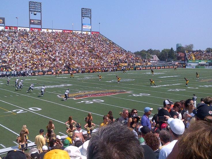 Kick-off. Toronto Argonauts vs Hamilton Tiger-Cats. September 3, 2012. Ivor Wynne Stadium. Hamilton, Ontario. #CFL #Argos #TiCats #football #Canada