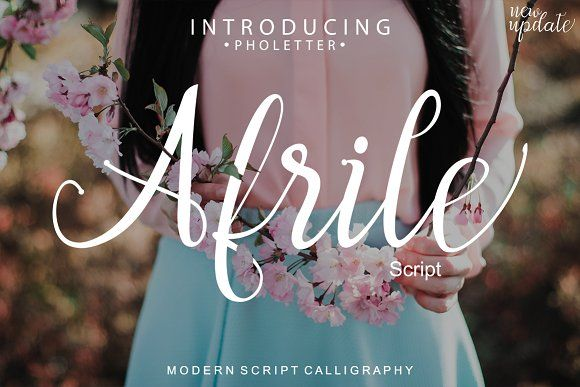 Afrile Script by pholetter on @creativemarket