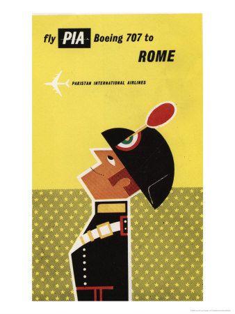 Rome, Pakistan International Airlines