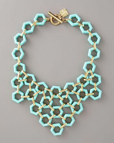 Geometric design: Turquoi Necklaces, Statement Necklaces, Color, Washer Necklaces, Summer Necklaces, Gold Necklaces, Mint Necklaces, Geometric Necklaces, Bibs Necklaces