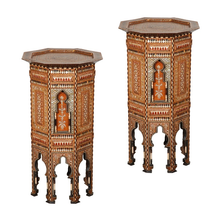 Ottoman Empire Mother of Pearl Inlaid Pedestal