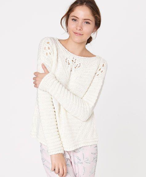 Ажурный свитер - OYSHO