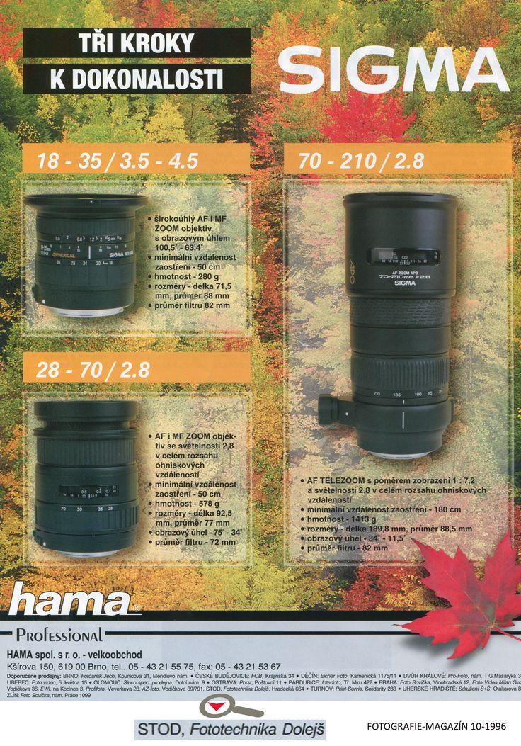 Časopis: FOTOGRAFIE-MAGAZÍN 1996-10  Doporučené prodejny: Fototechnika Dolejš Zadavatel inzerce: Hama s.r.o.. Formát: A4