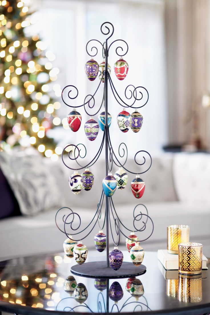 Metal Christmas Tree Ornament Display