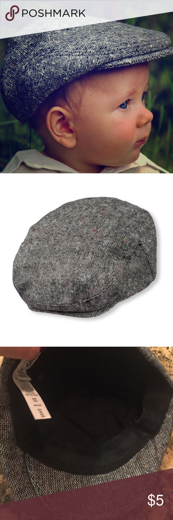 Tweed Newspaper Boy Hat Adorable Newspaper Boy Hat. Smoke/Pet free home                          Made of 100% polyester tweed Lining made of 95% polyester/5% polyester sh Children's Place Costumes Theater