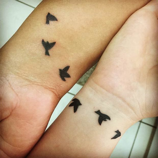 Mother Daughter Swallow Tattoos