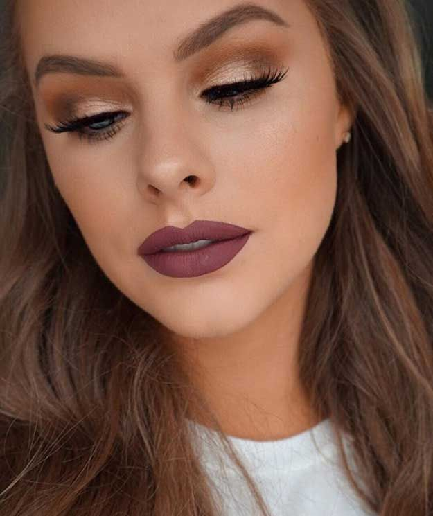 4bf3ef8beeb #DiyBeautyTips Makeup Looks For Brown Eyes, Fall Makeup Looks, Spring  Makeup, Make