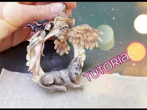 Breeder of Wolves & Owls Chibi Cameo polymer clay tutorial