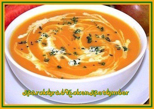 Ook met worteltjes kan je een overheerlijke soep bereiden....Dit heb je nodig600 gram in plakjes gesneden worteltjes2 middelgrote in blokjes gesneden aardappelen1 grote ui40 g