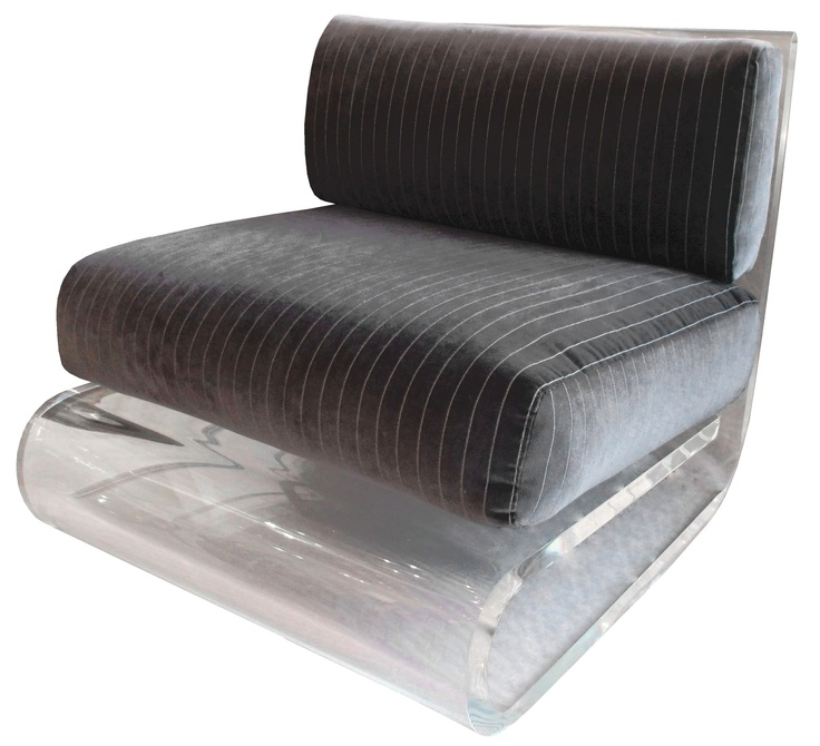 lucite chair square black