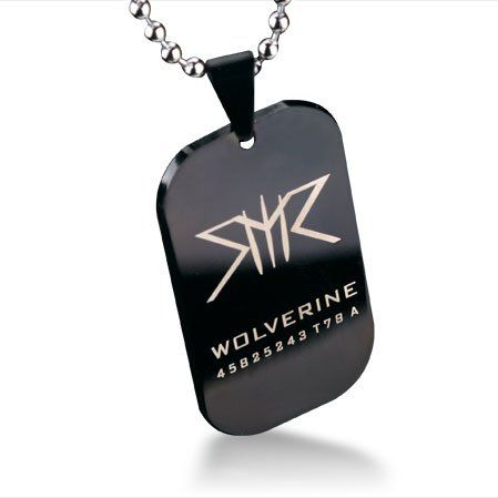 Marvel Super Heroes X Man X-Men Wolverine Dog Tag Titanium Steel Necklace XmanX Pendant Free With Chain