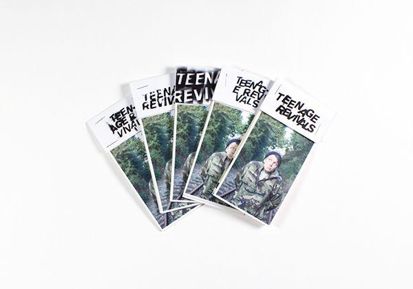 Teenage Revivals - A Typography zine by Sebastian Ygge Tinning, via Behance