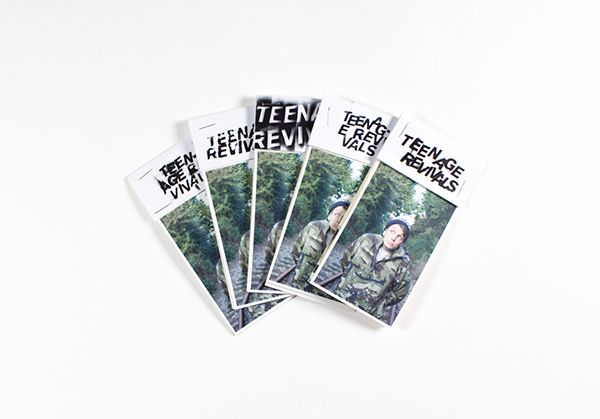 Teenage Revivals - A Typography zine by Sebastian Ygge Tinning, via Behance
