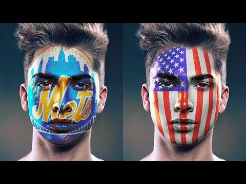 Photoshop: FACE PAINT! How to Paint Graphics onto a Face. - YouTube