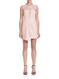 BCBGMAXAZRIA - Kinsey Crossback Asymmetrical Dress