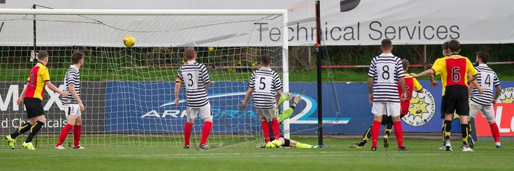 Partick Thistle's Michael McMullan scores during the IRN-BRU Cup game between Partick Thistle Colts and Queen's Park.