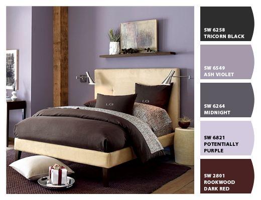 Chocolate y lavanda combinaciones de colores pinterest - Combinacion de colores para paredes de dormitorios ...