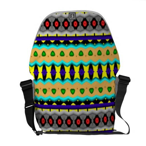 Nice colorful pattern courier bags