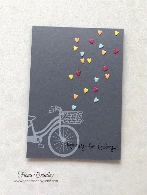 Hooray for today - Bike Ride - Greatest Greetings - Hearts - Stampin' Up! - Fiona Bradley