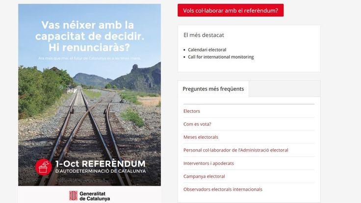 La Generalitat abre el registro de voluntarios para el 1-O en una web del referéndum