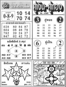 Thai Lottery 4pc Paper TIPS