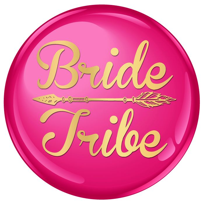 Bride Tribe Badge with Gold Arrow