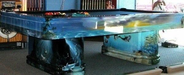 112 best images about aquatic art fish tanks on pinterest for Koi pond pool table