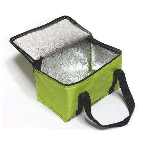 Yeşil Polyester Kumaş Askılı Soğutucu Çanta