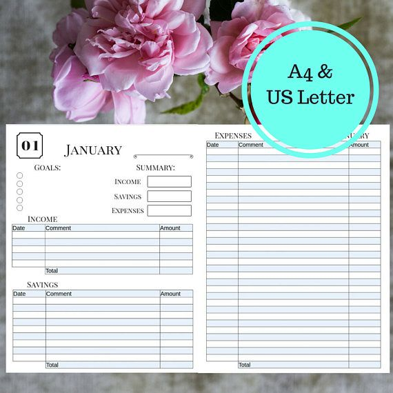 Income and expense tracker for when you want to get your finances in order. Get control of debt and crush that savings goal. #personalfinance #etsy