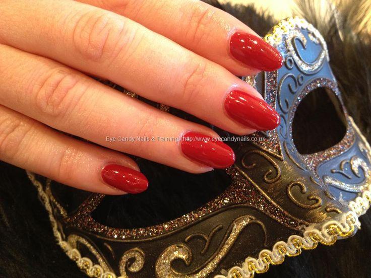Gel nails with red gel polish