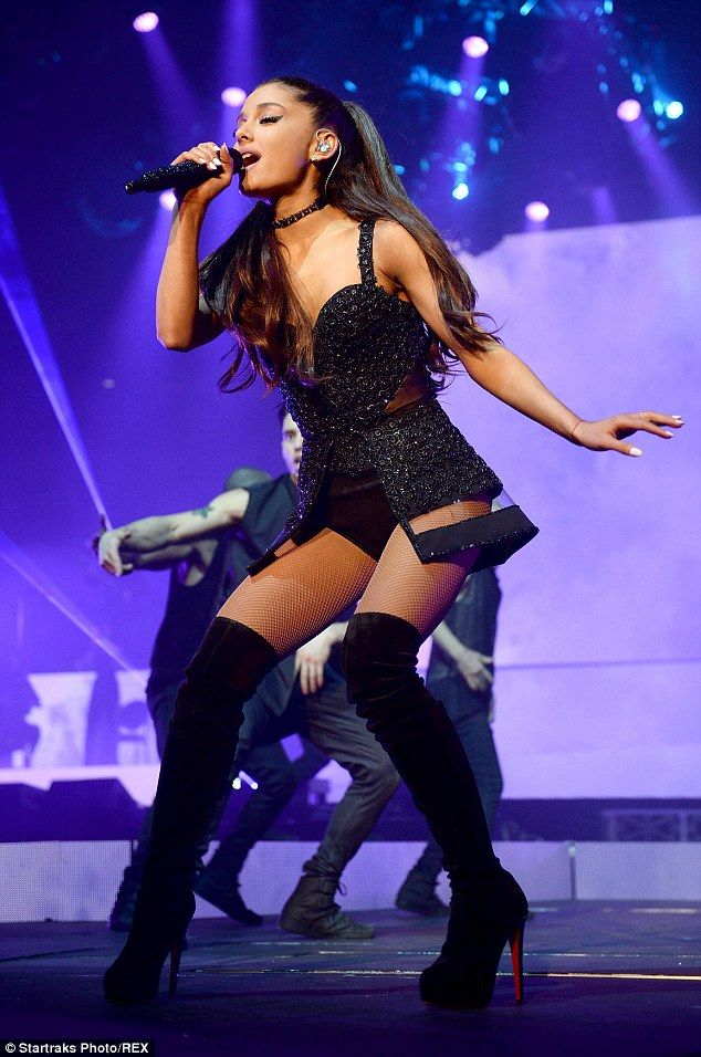 You go girl! Ariana Grande kicked off her The Honeymoon Tour in Kansas City on Wednesday n...