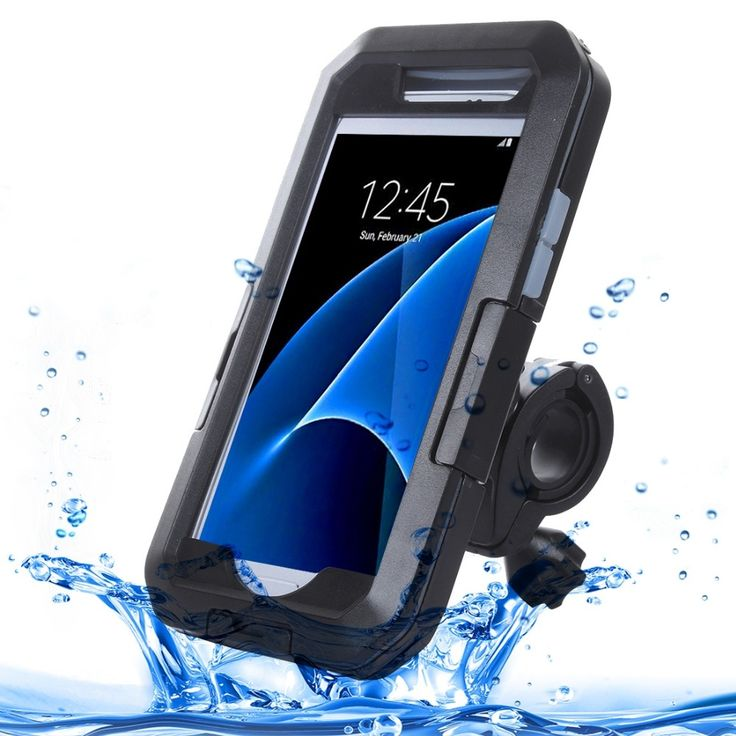 S7 G930 IPX8 Plastic + Silicone Waterproof Protective Case with Bike Holder for Samsung Galaxy S7 / G930