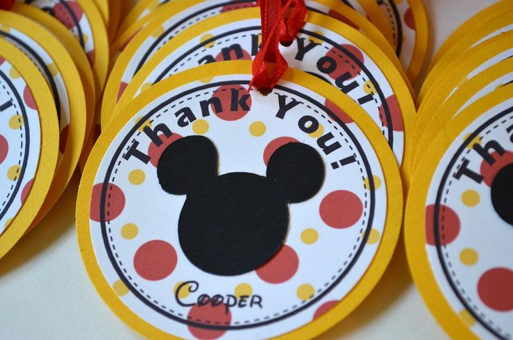 Mickey Mouse Birthday Party-Favor Tags