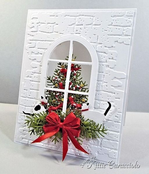 Arched Window and Christmas Tree