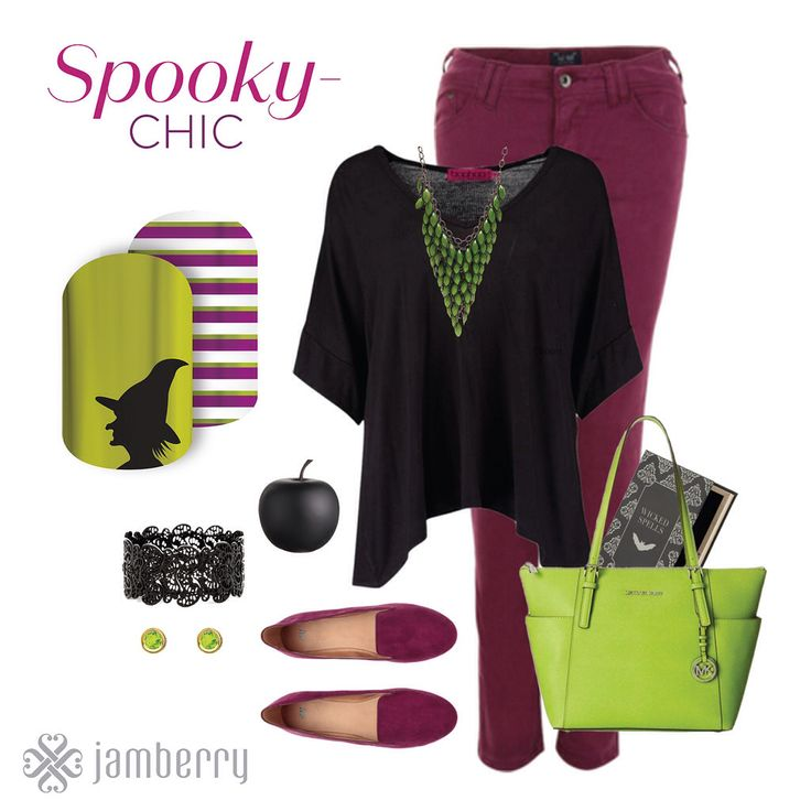 my new fave wicked witch look :) Something witchy this way comes with these wicked satin Mixed Mani nail wraps.      #SpellboundJN www.nettiek.jamberry.com