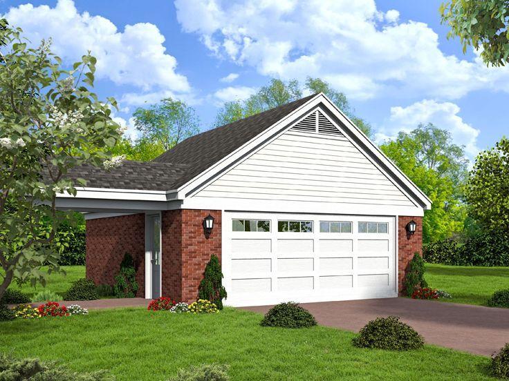 Garage with Optional Breezeway 062G 0092 Patio plans