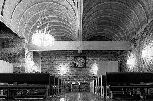 Almtunakyrkan in Uppsala, Sweden  by Peter Celsing in 1959
