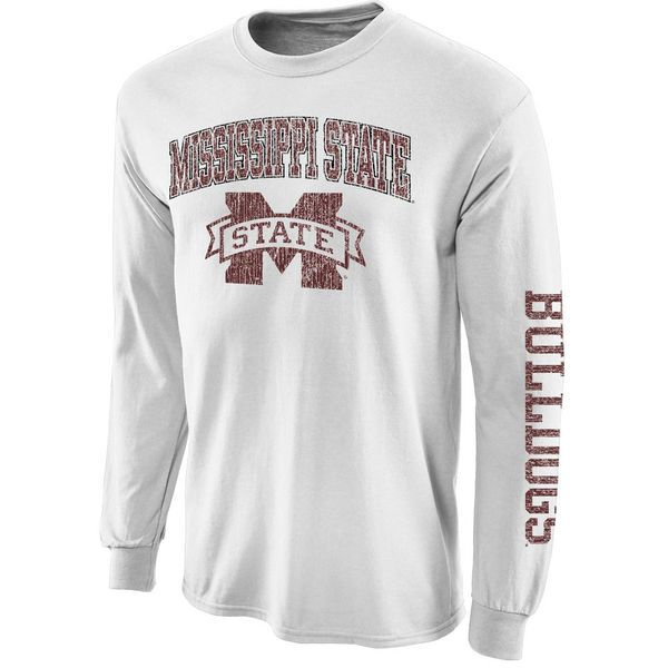 Mississippi State Bulldogs Big Arch N' Logo Long Sleeve T-Shirt – White - $21.99