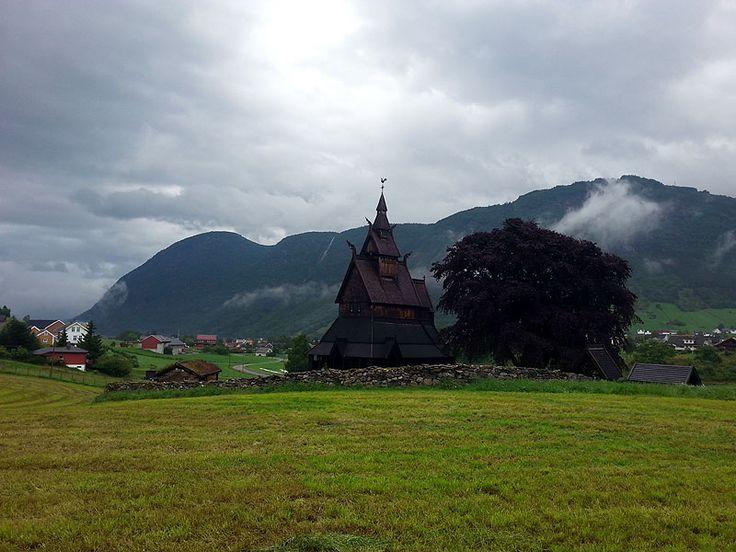 Iglesia vikinga de Hopperstad, Vik, en Noruega