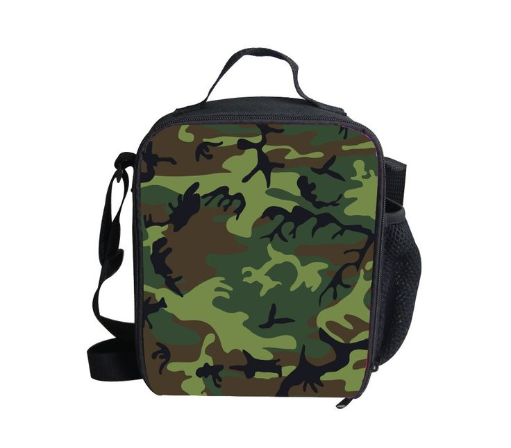 FORUDESIGNS new arrival Camouflage lunch bags kids campus lunch box children thermal picnic lunchbox new year gift women bag
