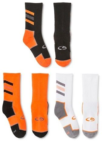 C9 Champion Boys' Crew Athletic Socks 3 pk C9 Champion® - Orange