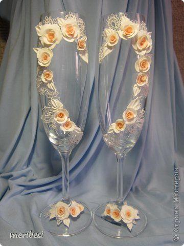 Декор предметов Стихи Свадьба Аппликация Лепка Весна любовь  свадебный сезон Бусинки Клей Кружево Ленты Пластика фото 43