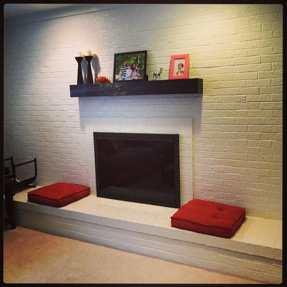 Rugged wood finish fireplace mantle .  Look of a solid beam. Made out of wood, with ebony stain and clear lacquer finish.  Light weight and easy to